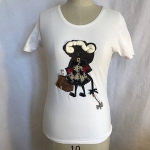 Rare Prada white multi charm tshirt. XS/S